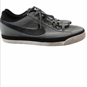 NIKE Mens 10.5 SKATE SHOES FABRIC GREY BLACK